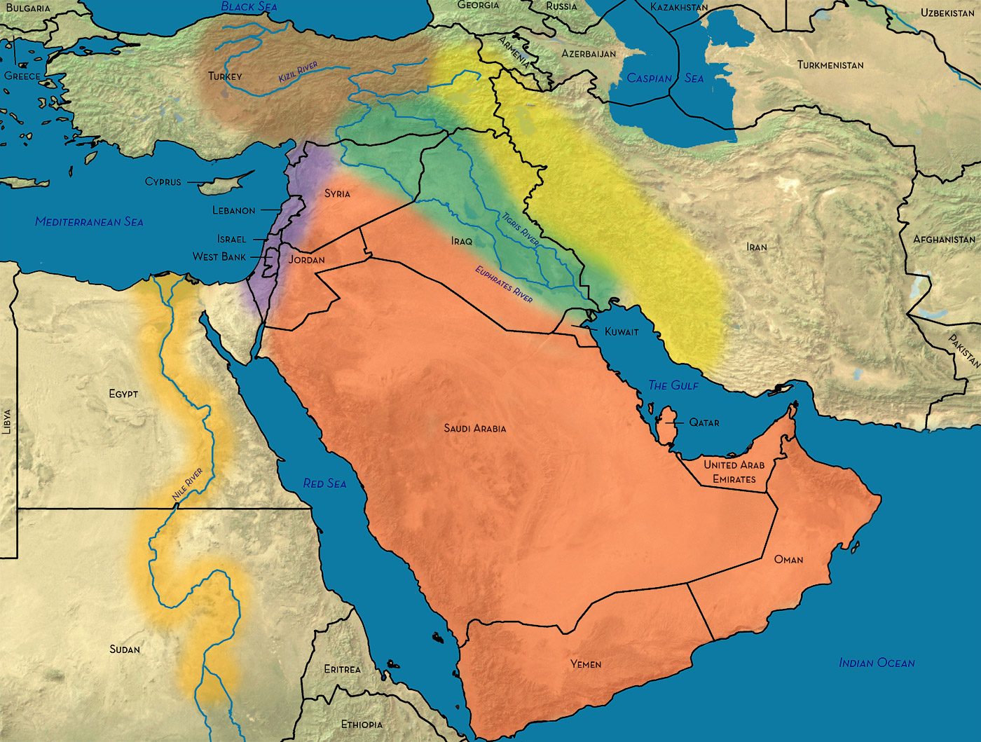 The Geography of the Middle East, Geoff Emberling
