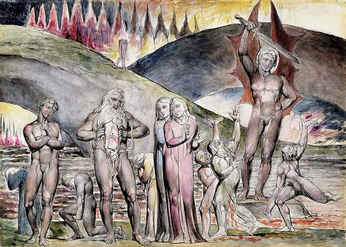 the middle east as seen through foreign eyes twentieth and twenty  william blake s watercolor of canto xxviii lines 30 and 31 of inferno the first part of dante alighieri s epic poem the divine comedy